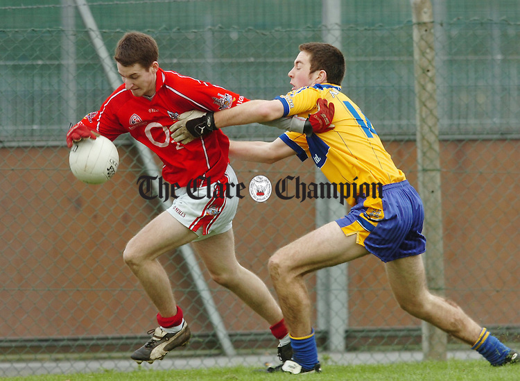 Clares Garry Brennan  during their U21 Football challenge match at Shannon.Pic Arthur Ellis.