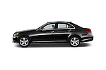 Car driver side profile view of a 2015 Mercedes Benz E Class Elegance 4 Door Sedan