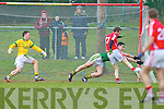 John Hayes  Cork scores the only goal of the game at the McGrath cup final at Mallow on Sunday.