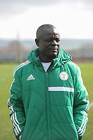 U17 : Belgian Red Flames - Nigeria <br /> <br /> Coach van Nigeria : Bala Nikya<br /> <br /> foto Dirk Vuylsteke / Nikonpro.be
