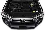 Car Stock 2020 Toyota 4-Runner SR5 5 Door SUV Engine  high angle detail view