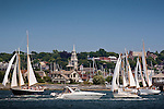 Boating on Newport Harbor, Newport, Narragansett Bay, RI, USA