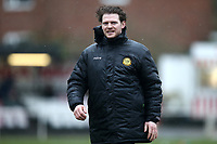 Merstham manager Frank Wilson during Hornchurch vs Merstham, BetVictor League Premier Division Football at Hornchurch Stadium on 15th February 2020