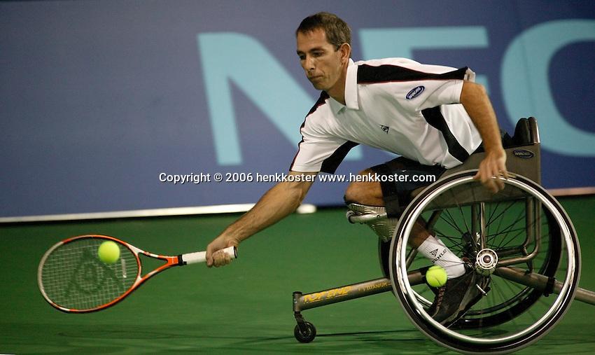 19-11-06,Amsterdam, Tennis, Wheelchair Masters, Robbin Ammerlaan in the finals