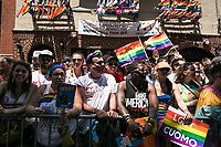 NEW YORK JUNE 25: Hundreds of people filled the streets to celebrate the annual New York Gay Pride Parade along the West Village on June 25, 2017 in New York. (Photo by Maite H. Mateo/VIEWpress/Corbis via Getty Images)