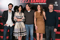 "The crew of the movie attends ""La Ignorancia de la Sangre"" presentation at Princesa Cinema in Madrid, Spain. November 13, 2014. (ALTERPHOTOS/Carlos Dafonte)"