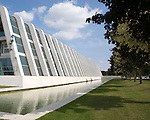 NAPP pharmaceutical group building architect Arthur Erickson, Cambridge Science Park, Cambridge, England completed in the 1980s.