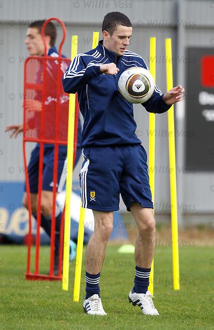 Motherwell striker Jamie Murphy training with Scotland u21s