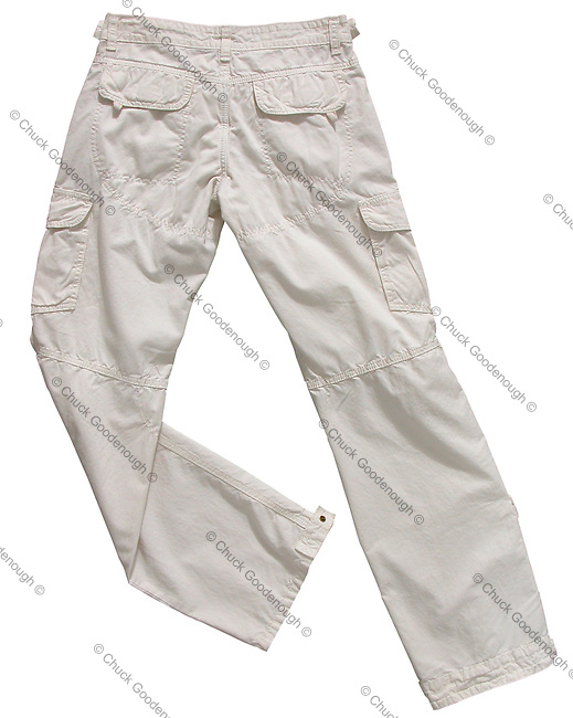 Stock Photo of White long pants on a white background