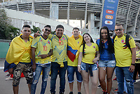 SALVADOR – BRASIL, 15-06-2019: Hinchas de Colombia previo al partido de la Copa América Brasil 2019, grupo B, entre Argentina y Colombia jugado en el Itaipava Fonte Nova Arena de la ciudad de Salvador, Brasil. / Fans of Colombia prior the Copa America Brazil 2019 group B match between Argentina and Colombia played at Itaipava Fonte Nova Arena in Salvador, Brazil. Photos: VizzorImage / Julian Medina / Cont / FCF
