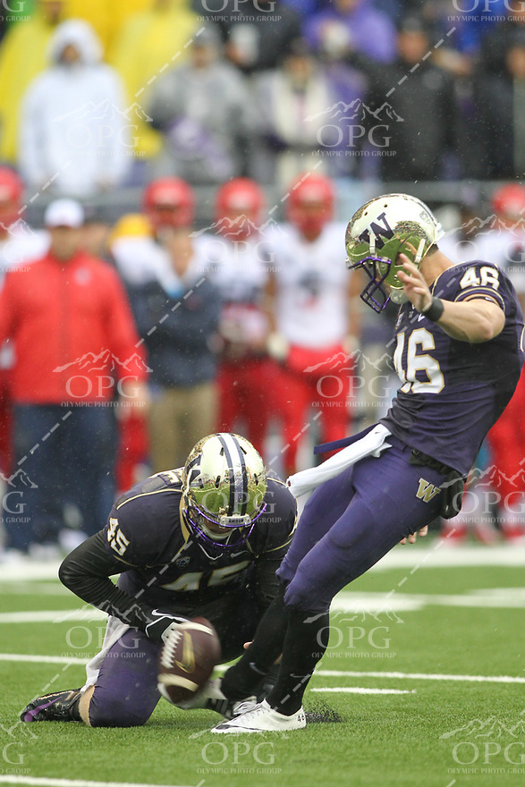 2013-09-28: Washington's Travis Coons against Arizona.  Washington won 31-13 over Arizona in Seattle, WA.