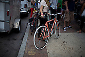 Pink Bike, Wilmington Street, Raleigh, NC, during the Hopscotch Music Festival, Saturday, Sept. 10, 2011.