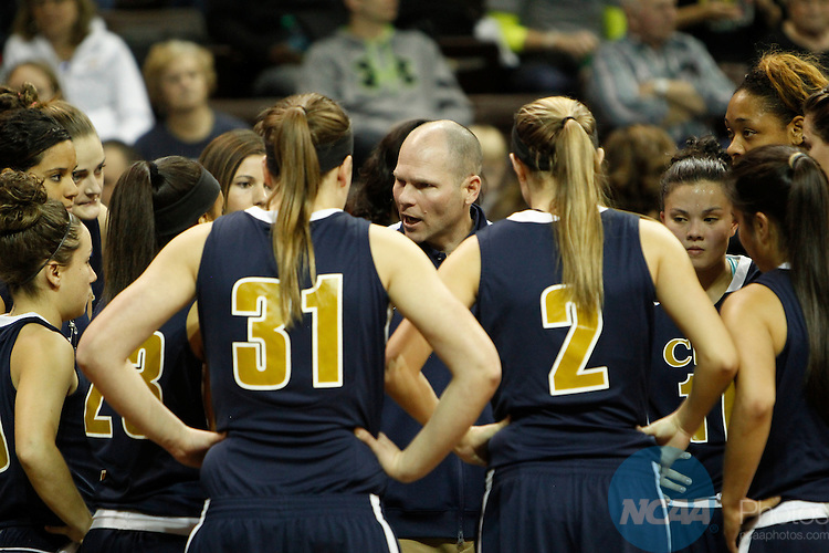 27 MAR 2015: The Division II Women's Basketball Championship is held at the Sanford Pentagon in Sioux Falls, SD. California (Pa.) defeated Cal Baptist 86-69 for the national title.  Richard Carlson/NCAA Photos