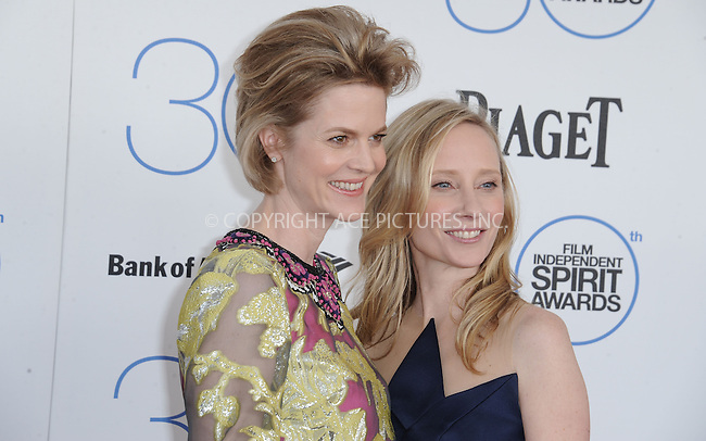 WWW.ACEPIXS.COM<br /> <br /> February 21 2015, LA<br /> <br /> Isabelle zu Hohenlohe-Jagstberg and Anne Heche arriving at the 2015 Film Independent Spirit Awards at Santa Monica Beach on February 21, 2015 in Santa Monica, California.<br /> <br /> By Line: Peter West/ACE Pictures<br /> <br /> <br /> ACE Pictures, Inc.<br /> tel: 646 769 0430<br /> Email: info@acepixs.com<br /> www.acepixs.com