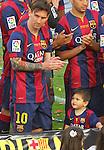 23.05.2015 BArcelona. La Liga. Celebracio titol lliga i comiat Xavi Hernandez al Camp Nou