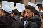 Milano, Italy, Piazza San Babila, 21 novembre 2015<br /> Manifestazione di protesta contro il terrorismo, le guerre e l&rsquo;islamofobia organizzata dalle Associazioni Islamiche Italiane<br /> Protest against terrorism and war organized by Italian Islamic Associations