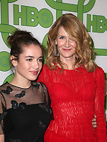 BEVERLY HILLS, CA - JANUARY 6: Laura Dern, Jaya Harper, at the HBO Post 2019 Golden Globe Party at Circa 55 in Beverly Hills, California on January 6, 2019. <br /> CAP/MPI/FS<br /> &copy;FS/MPI/Capital Pictures