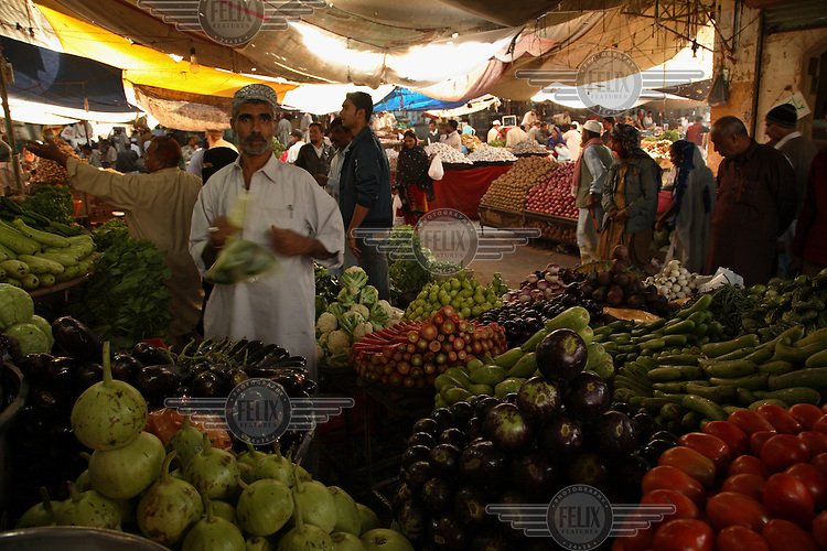 Vegetable stall in the Empress Market.