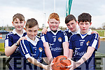 Josh Hoare, Jesse O'Reilly, James Duffy, Tadgh Foley and Conor Foley from Caherlaheen NS at the CBS Primary Hoops blitz in the John Mitchels complex on Friday last.