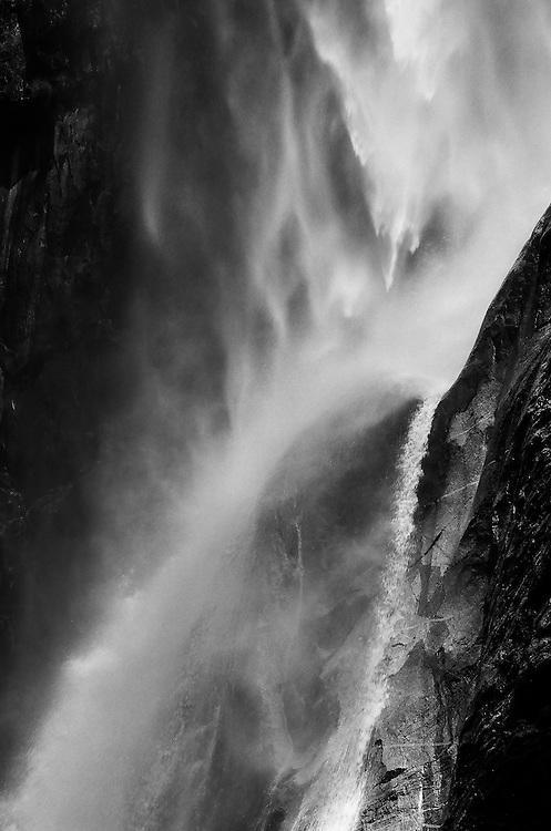 Yosmite Falls Detail NO. 3, Yosemite NP    35mm image on Ilford Delta 100 film