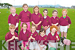 Causeway under eight girls at the hurling bliz at Kilmoyley sports grounds on Sunday were front l-r Michaela barrett, Ciara O'Hanlon, Erika Diggin, Nora leen and Molly Dineen.  Back l-r Rebecca Reilly, Siobha?n O'Hanlon, Katie Barry, Leanne Barrett, Sarah Lawlor and Shauna Dineen..   Copyright Kerry's Eye 2008