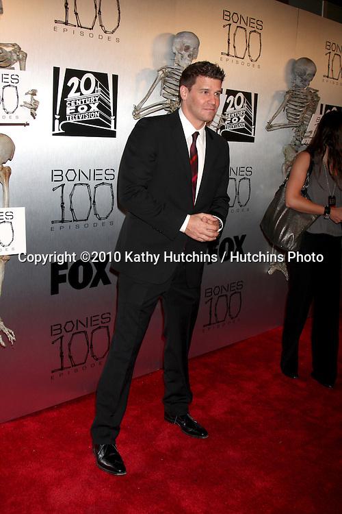 "David Boreanaz.arrives at the ""Bones"" 100th Show Party.650 North.Los Angeles, CA.April 7, 2010.©2010 Kathy Hutchins / Hutchins Photo..."