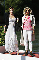 VENICE - September 4: Valeria Bruni Tedeschi and Valeria Golino on September 4, 2018 in Venice, Italy.(By Mark Cape/Insidefoto)