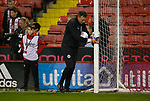 Darren Ward chief goalpost mover during the Championship match at the Bramall Lane Stadium, Sheffield. Picture date 27th September 2017. Picture credit should read: Simon Bellis/Sportimage