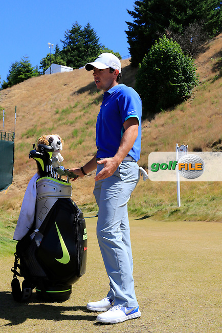 Rory MCILROY (NIR) on the 8th tee during Saturday's Round 3 of the 2015 U.S. Open 115th National Championship held at Chambers Bay, Seattle, Washington, USA. 6/20/2015.<br /> Picture: Golffile | Eoin Clarke<br /> <br /> <br /> <br /> <br /> All photo usage must carry mandatory copyright credit (&copy; Golffile | Eoin Clarke)