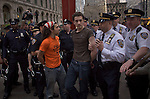 USA-New York, OWS weekly marches on Wall Street