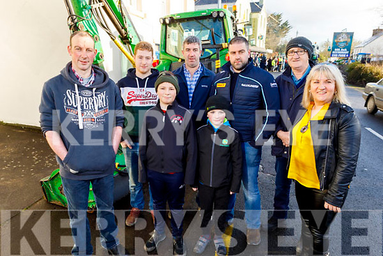 Attending the James Ashe Memorial Tractor Run in Boolteens on Sunday. <br /> Back L to r: Derry Nagle (Castlemaine), Liam Corcoran (Boolteens), John Barton (Keel), Stephen O'Connor (Keel), James O'Brien (Castledrum) and Martina Flynn (Currow).<br /> Front: Sean Nagle (Castlemaine) and Padraig Barton (Keel).
