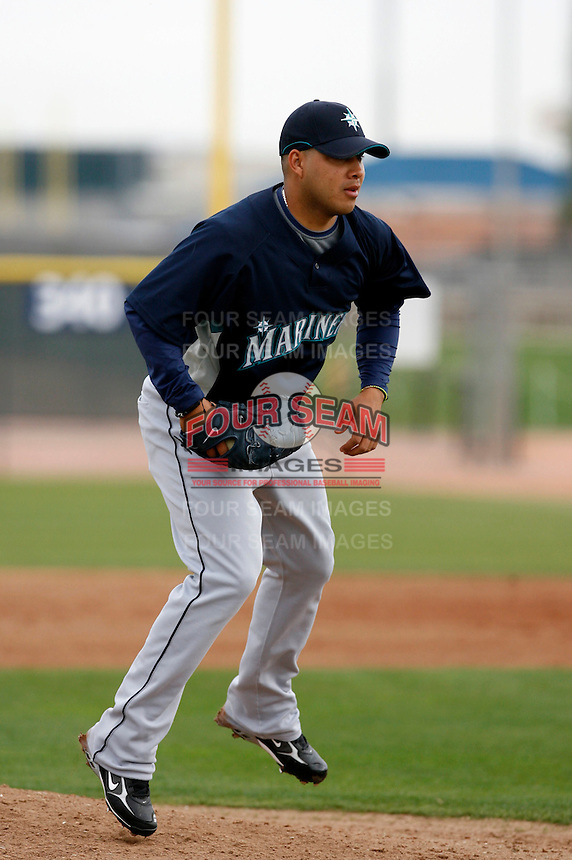 Cesar Jimenez  -  Seattle Mariners - 2009 spring training.Photo by:  Bill Mitchell/Four Seam Images