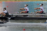 Sarasota. Florida USA.  top. USA LW2X.Bow. Emily SCHMIEG and Michelle SECHSER.  NZL LW2X and ROM LW2X. Final A. 2017 World Rowing Championships, Nathan Benderson Park<br /> <br /> Saturday  30.09.17   <br /> <br /> [Mandatory Credit. Peter SPURRIER/Intersport Images].<br /> <br /> <br /> NIKON CORPORATION -  NIKON D500  lens  VR 500mm f/4G IF-ED mm. 320 ISO 1/1600/sec. f 8