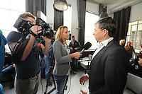 SCHAATSEN: HEERENVEEN: 23-09-2014, Perspresentatie Team Clafis, Interview Directeur Clafis/Sponsor Bert Jonker, ©foto Martin de Jong