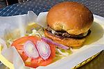 Hamburger, Johnny's Fillin Station Restaurant, Orlando, Florida
