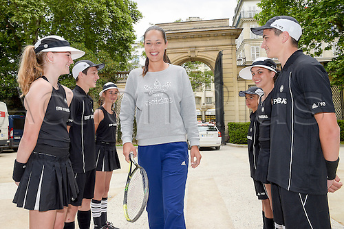 21.05.2015. Hôtel Salomon de Rothschild , Paris, France. Adidas launch of new clothing for the upcoming Roland Garros tennis tournament.  Ana Ivanovic arrives for the event