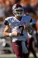 24 November 2006: Texas A&M quarterback Stephen McGee takes the field during the Aggies 12-7 victory over the University of Texas Longhorns at Darrell K Royal Memorial Field in Austin, TX.