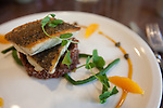 Barramundi with Himalayan red rice at FIGOLY Restaurant at Luxe City Center in Downtown Los Angeles, CA