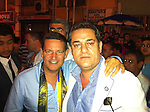 St Johnstone v Eskisehirspor....18.07.12  Uefa Cup Qualifyer.St Johnstone Chairman Steve Brown (left) being shown around Eskisehir by Halil Unal President of Eskisehirspor.Picture by Graeme Hart..Copyright Perthshire Picture Agency.Tel: 01738 623350  Mobile: 07990 594431