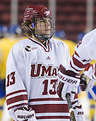 Conor Sheary (UMass - 13) - Sweden's Under-20 team played its last game on this Massachusetts tour versus the University of Massachusetts-Amherst Minutemen losing 5-1 on Saturday, November 6, 2010, at the Mullins Center in Amherst, Massachusetts.