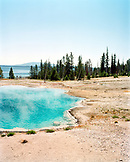 USA, Wyoming, Blue Funnel Spring at West Thumb Geyser Basin, Yellowstone National Park