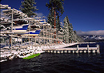Winter boat storage at Homewood on Lake Tahoe