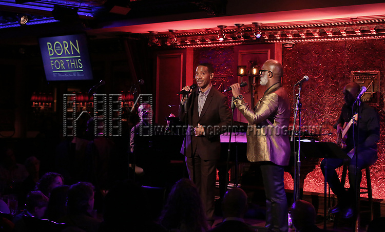 """Charles Randolph-Wright and BeBe Winans on stage during a Song preview performance of the BeBe Winans Broadway Bound Musical """"Born For This"""" at Feinstein's 54 Below on November 5, 2018 in New York City."""