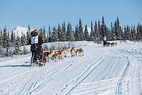 Janelle Trowbridge and Jimmy Lanier during the 2015 Junior Iditarod start along the Denali Highway <br /> <br /> <br /> <br /> (C) Jeff Schultz/SchultzPhoto.com - ALL RIGHTS RESERVED<br />  DUPLICATION  PROHIBITED  WITHOUT  PERMISSION