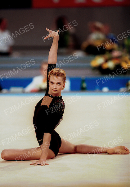 Svetlana Khorkina at the European Championships France 2000.Photos by Alan Edwards