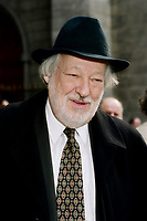 Montreal (Qc) CANADA - September 9, 2000<br /> -File Photo - Fernand Daoust arrive at the funeral of fellow union leader Marcel Pepin<br /> , held at Notre-Dame Basilica.