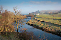 River Hodder looking towards Dunsop Bridge, Whitewell, Lancashire.