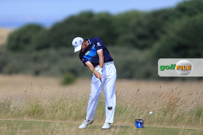 Paul LAWRIE (SCO) during round one of  The 142th Open Championship Muirfield, Gullane, East Lothian, Scotland 18/7/2013<br /> Picture Eoin Clarke www.golffile.ie: