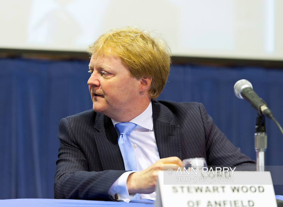 """Lord Stewart Wood of Anfield is a panelist at """"Change in the White House? Comparing the George W. Bush and Barack Obama Presidencies"""" on Thursday, April 19, 2012, at Hofstra University, Hempstead, New York, USA. Hofstra's event was part of """"Debate 2012: Pride, Politics and Policy"""" which leads up to the Presidential Debate Hofstra is hosting on October 15, 2012. Lord Stewart Wood, a British academic and Labour life peer in the House of Lords, served as Senior Policy Advisor to Prime Minister Brown and campaign manager for the successful campaign of Ed Milliband to Labour Party Leader, and a member of the Shadow Cabinet."""