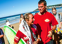 Winner of the 1998 Coca Cola Surf Classic at Manly Beach in Sydney Layne Beachley (AUS) Photo: joliphotos.com